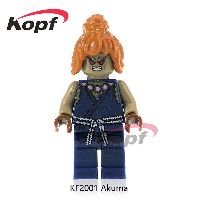 50Pcs KF2001 Street Fighter Super Heroes Akuma Thunder Hawk Chun-Li Blanka Dolls Bricks Model Building Blocks Children Gift Toys