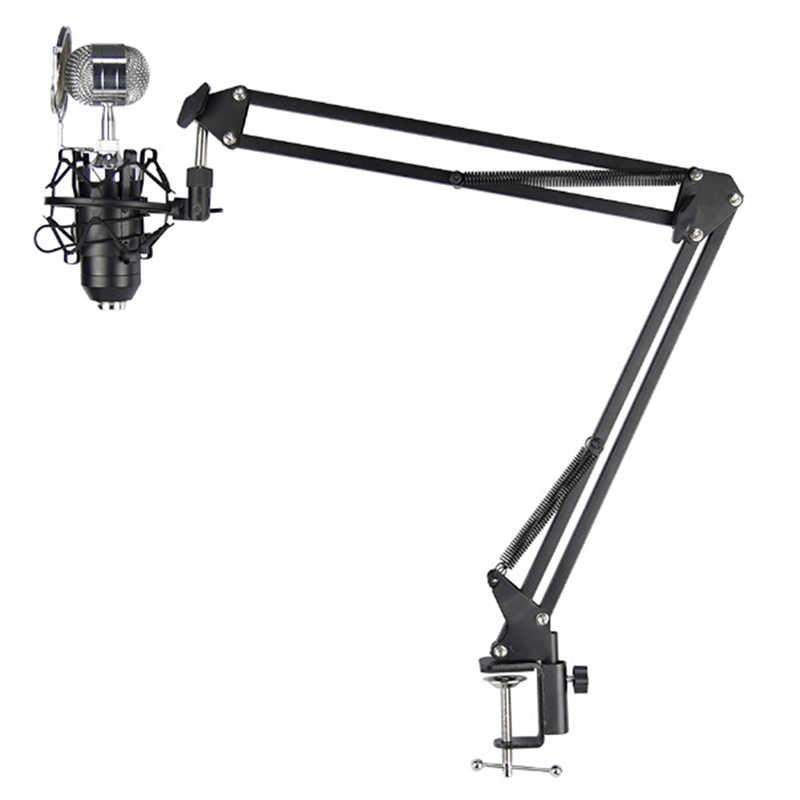 Micrófono soporte de pie para micrófono NB-35 trípode de mesa de escritorio de grabación extensible para bm 800 bm 700 bm 8000