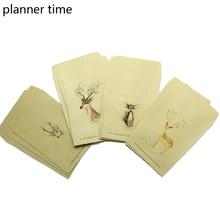 Planner Time Deer Envelope 12 pcs/lot  Paper 4 Designs Cute Mini Envelopes Vintage European Style For Card Scrapbooking Gift