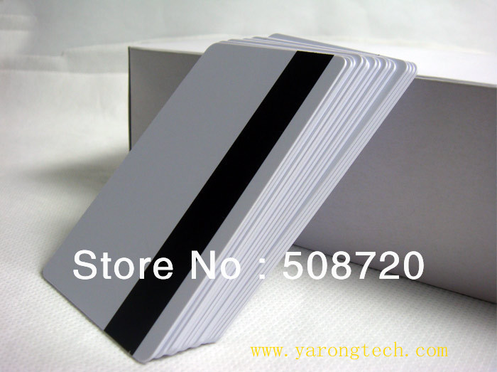 100pcs/lot Blank White PVC Hico 1-3 magnetic stripe Plastic Credit Card 30Mil Magnetic Card with protective fill free shipping 20pcs lot contact sle4428 chip gold card with magnetic stripe pvc blank smart card purchase card 1k memory free shipping