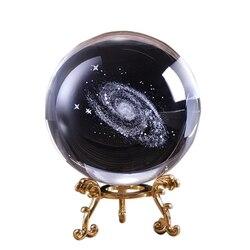 6 CM Kristall Ball Quarz FengShui Fotografie Glas Kristalle Handwerk Reise Nehmen Bild Hause Dekorative Ball Geschenk 3D Laser Galaxy