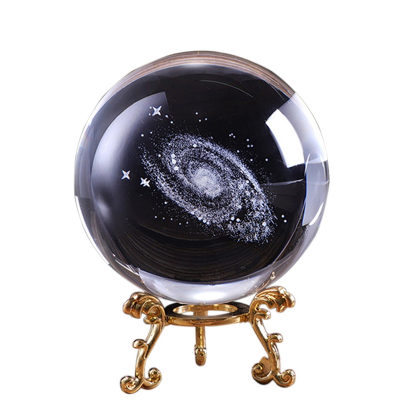 6CM Crystal Ball Quartz FengShui Photography Glass Crystals Craft Travel Take Picture Home Decorative Ball Gift 3D Laser Galaxy