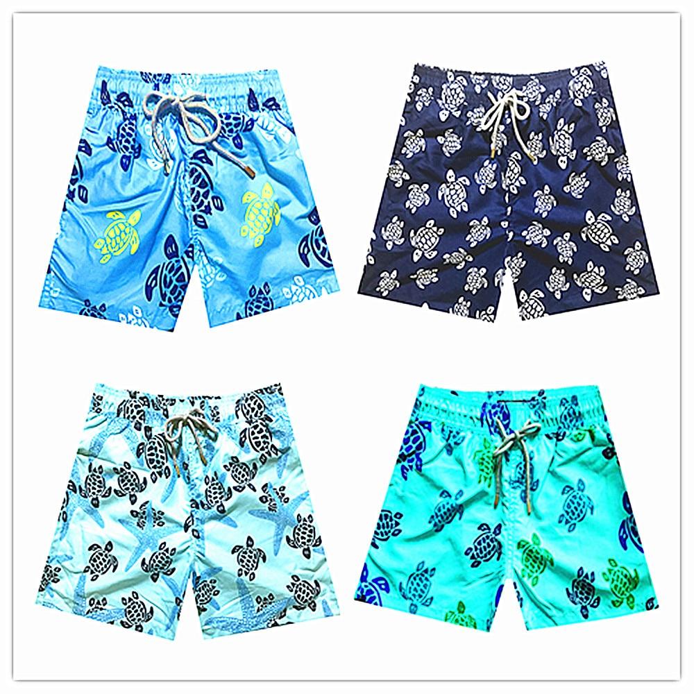 6 16 Years Brand Vilebre Baby Boys Beach Board Shorts Kids 100% Quick Dry Bermuda Turtle Flamingo Children Boardshorts Swimwear