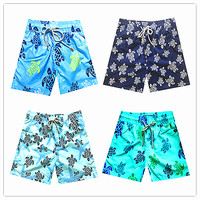 6 16 Years Brand Vilebre Baby Boys Beach Board Shorts Kids 100% Quick Dry Bermuda Turtle Flamingo Children Boardshorts Swimwear
