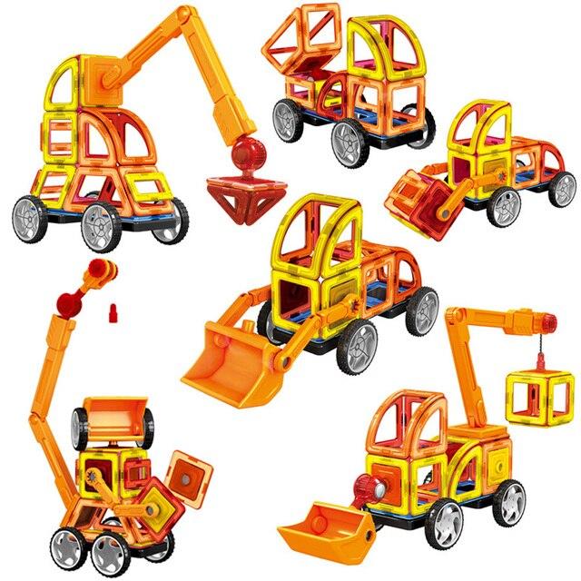 88PCS Big Size Magnetic Building Blocks Magnetic Construction Designer Set Educational Toys For Children Kids Gifts