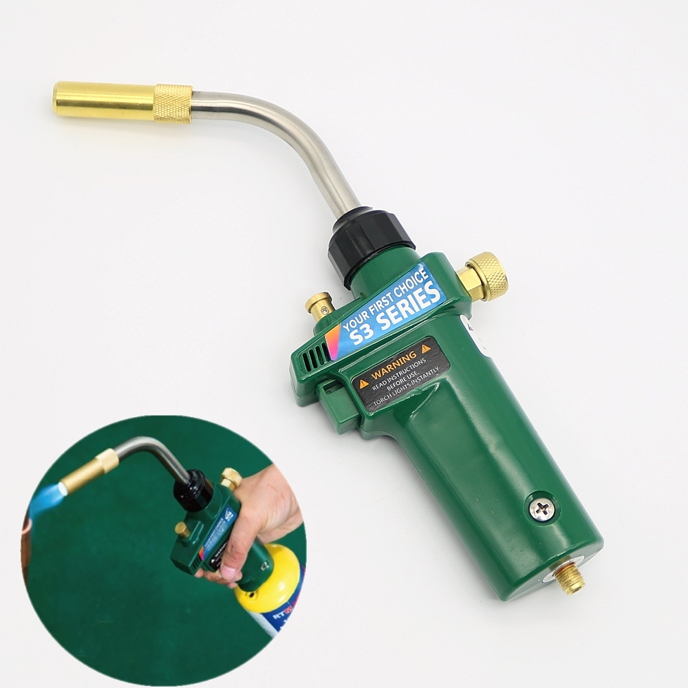 MAPP Welding Brazing Torch Self Ignition Turbo Torch Solder Welding Gas Torch gas self ontsteking sanitair turbo torch soldeer solderen fakkel lassen met lassen slang voor verwarming soldeer gereedschap