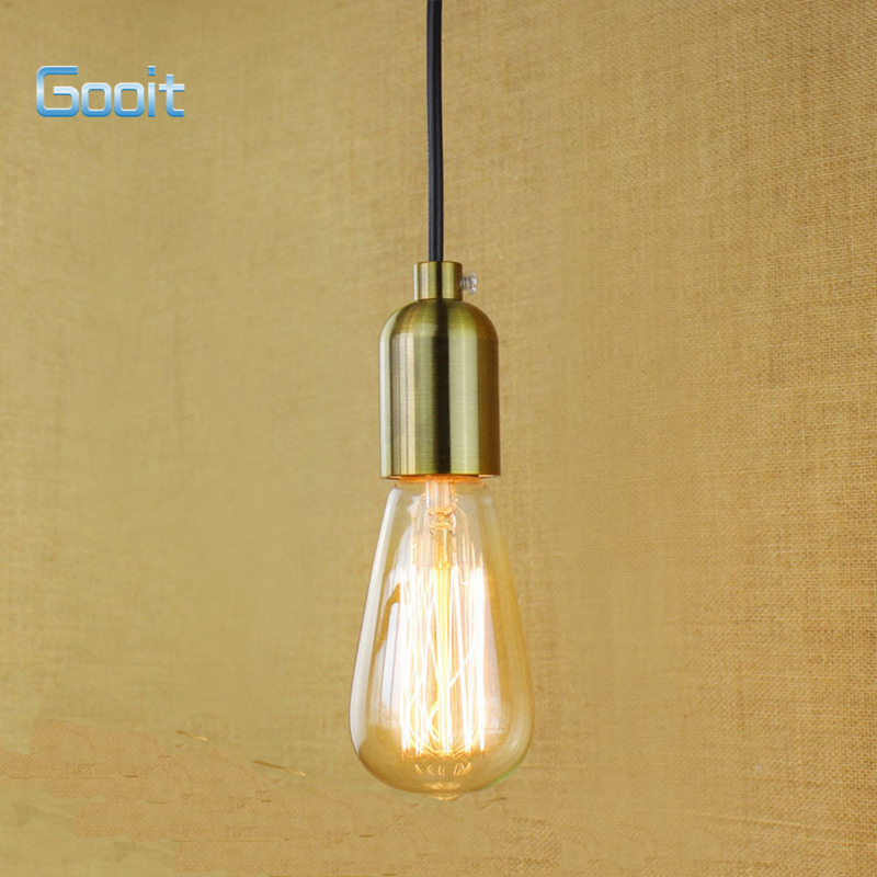 E27 pendant lamp holder gold bronze modern simple vintage bubs light e27 pendant lamp holder gold bronze modern simple vintage bubs light socket with 1m wire 90v 240v in pendant lights from lights lighting on aliexpress keyboard keysfo Gallery