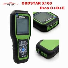 OBDStar X 100 PROS X100 PRO Auto Key Programmer (C + D + E รุ่น) ฟังก์ชั่นเต็มรูปแบบ IMMOBILIZER + วัดระยะทาง + อะแดปเตอร์ EEPROM X 100 PRO