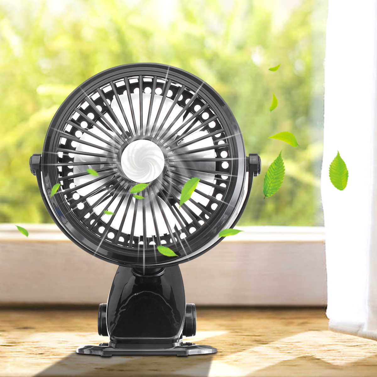 Rechargeable Battery Portable Mini Silent Clip Fan 4 Blades Bedside Clip Cooling Fans 3 Speeds Desktop USB Fan 360 RotationRechargeable Battery Portable Mini Silent Clip Fan 4 Blades Bedside Clip Cooling Fans 3 Speeds Desktop USB Fan 360 Rotation