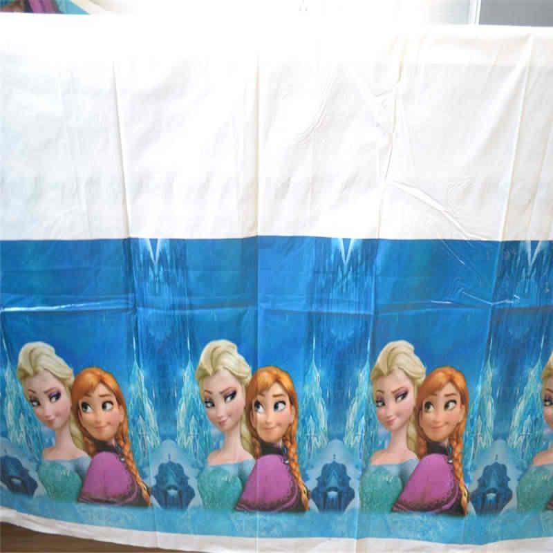 Feestartikelen Disney Frozen Thema Kid Verjaardagsfeestje Decoratie Prinses Elsa Wegwerp Tafelkleed Tafelkleed 108*108cm 1 stuks