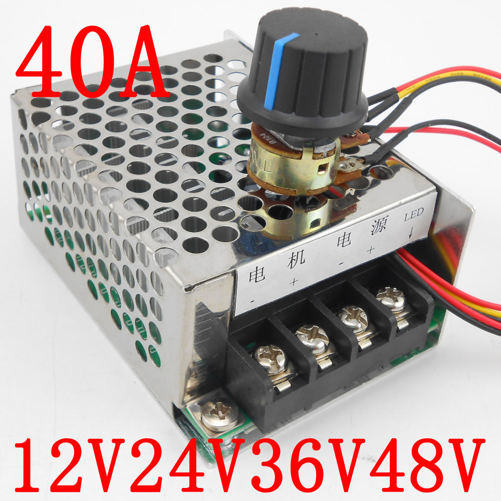 Impartial Dc 9v-60v 40a 2000w Pulse Width Modulator Powerful Pwm 36v 24v Dc 12v 48v Brush Motor Speed Regulator Controller