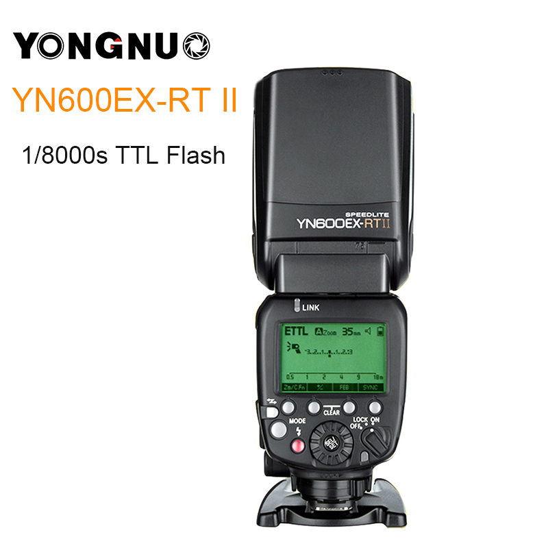 YONGNUO YN600EX-RT II YN600EX RT II 2.4G Wireless HSS 1/8000s Master TTL Flash Speedlite for Canon DSLR Camera as 600EX-RT вспышка для фотокамеры yongnuo speedlite yn600ex rt canon 600ex rt 2 4g hss 1 8000s speedlite yn600ex rt