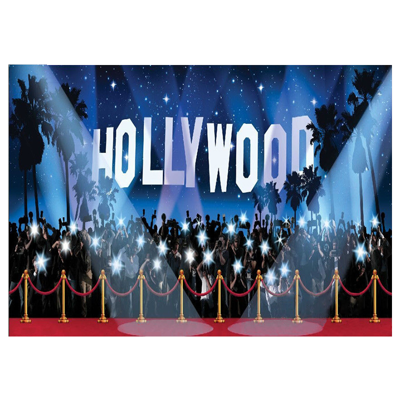 Hollywood Vinyl backdrop Photography Photo Studio background Prop 9X6FT 8x8ft black white stripes wall custom vinyl photography background studio photo prop photographic backdrop 2 4m x 2 4m