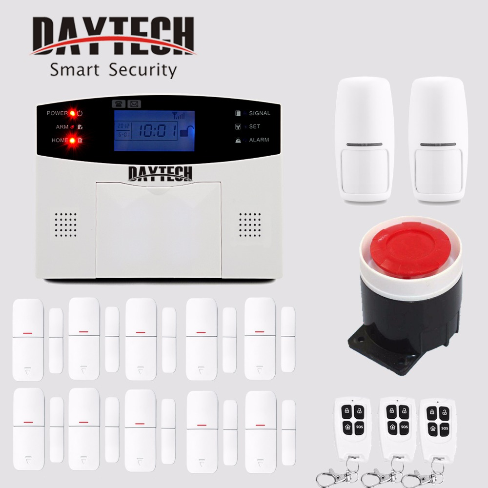 DAYTECH Wireless GSM Alarm Home Security System Kits Burglar Intruder Alert with PIR Motion Sensor Door Detector APP Control wireless gsm sms burglar alarm home security system with pir motion sensor door magnet sensor app control ios android