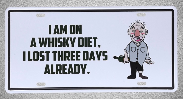1 pc Whisky Diet bar drink wine hangover beer plaques Tin Plates Signs wall man cave Decoration Metal Art Vintage Poster