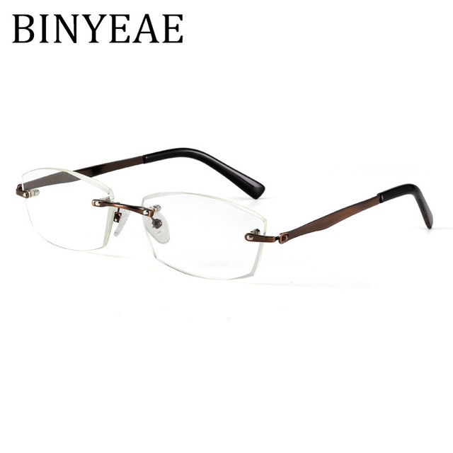 BINYEAE Brand Designer Rimless Optical Reading Glasses