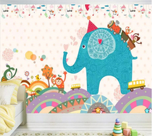 beibehang Custom Photo Wallpaper 3d Mural Kids Room Cartoon Elephant Living Background Wall paper papel de parede