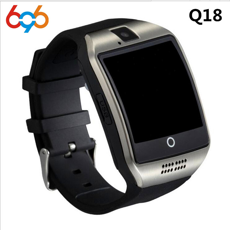 Bluetooth Smart Watch Q18 smart Clock For Android Phone With Pedometer Camera SIM Card Whatsapp Call Message Display pk A1