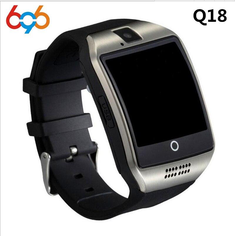 Bluetooth Smart Watch Q18 smart Uhr Für Android-Handy Mit Schrittzähler Kamera Sim-karte Whatsapp Call Nachricht Display pk A1