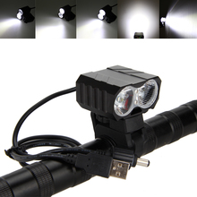 Real 30000LM 2x XM-L T6 USB LED Bicycle light Cycling Flashlight Lamp Waterproof Holder Front Bike Light Bicycle Accessories