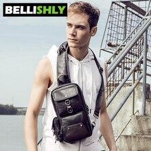 Купить с кэшбэком Bellishly Men Travel Bags High Capacity Shoulder Bag Chest Crossbody Money Belt Male Messenger Bags Handbags Purse Back Pack Sac