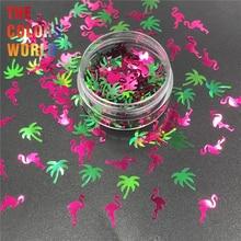 TCT-342, кактус, фламинго, пальма, летний блеск для ногтей, украшение для ногтей, краска для лица, тату, Тумблеры, ремесла, аксессуары для фестиваля