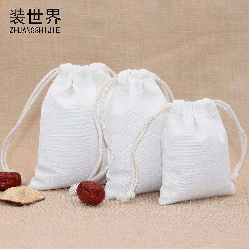 3pcs/lot  14.5*19.5cm Canvas Bag Pouch Wholesale Custom Logo Print Factory Drawstring Food Cloth Gift Bags Packing Bags