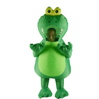 Adulte Holloween Animaux Cosplay Costumes Gonflable Grenouille Costume Carnaval Partie Blow Up Drôle Robe Costume Complet Corps Costume De Mascotte
