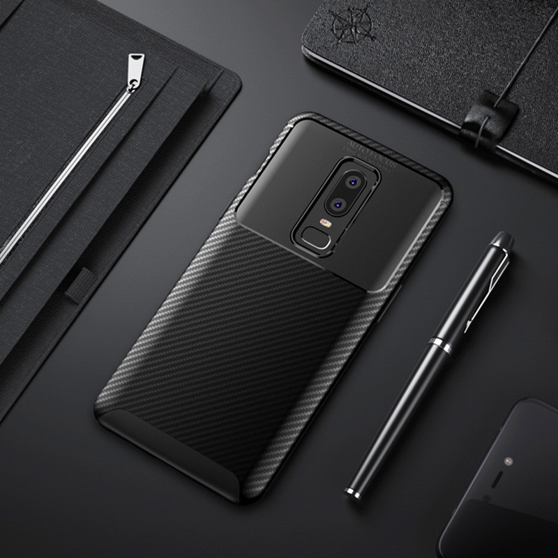 Carbon Fiber Case For Oneplus 6 Case 6.28 inch High Quality Diamond Grid Design Cover For Oneplus 6 A6000 A6003 Back Cover Coque