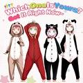 Anime Yuru Yuri Flannel Pajamas Kawaii Doggy Kitty Panda Sleepwear Men Women Onesie Pyjamas Female Nightwear Home Clothing