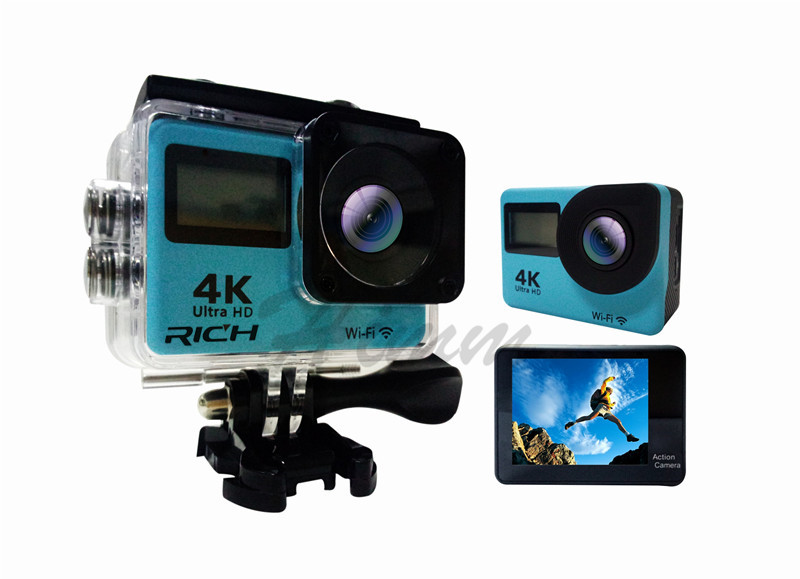 А. t350 спорт камера 4 к 2.0 дюймов беспроводной 4 к 16 мегапикселей 30 кадров / сек.264 30 м водонепроницаемый 170 широкоугольный объектив спорт камера действие ДВ