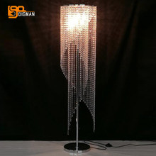 modern design crystal floor lamps for living room floor standing light 100% guarantee(China)