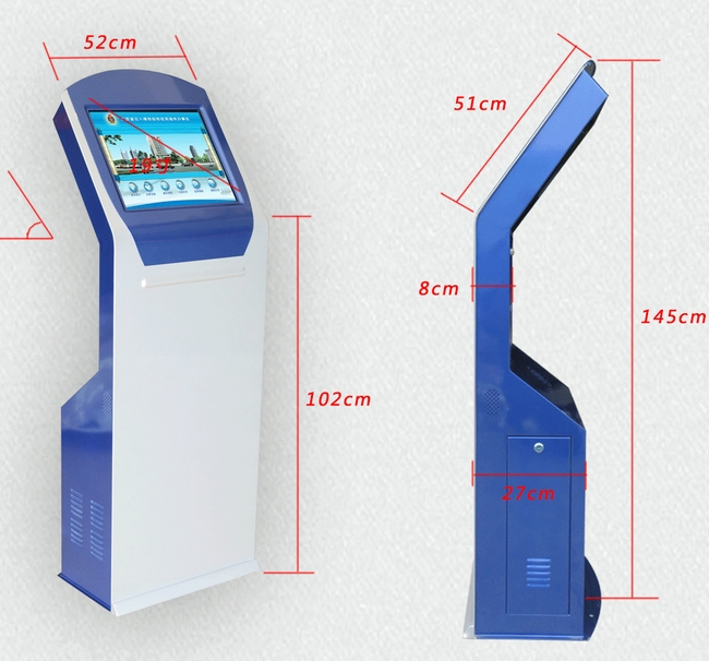 17 19 Inch Touch Screen Self Service Information All In One Pc IC ID Kiosk Card Reader