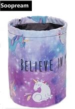 believe unicorn Barrel Cosmetic Bag nylon Toiletry kits Drawstring Elegant Drum Washing Bag Makeup Organizer Storage face totes