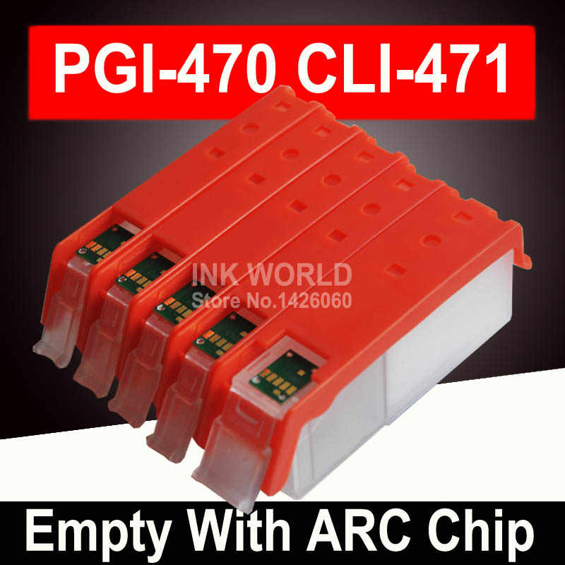 Untuk Canon PIXMA TS5040 MG6840 MG5740 TS6040 PGI470 Kosong Cartridge Printer Tinta Isi Ulang Refill Cartridge Permanen Chip
