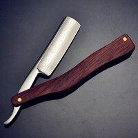 Classic Old Series Men Shaving Razor Straight Razor Folding Shaving Knife Damascus Pattern SUS440C Steel Professional Barber Too