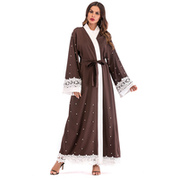 Muslim Abaya Turkey Dubai Kaftan Islam Malaysia Long Lace Kimono Cardigan Hijab Dress Women Ramadan Turkish Islamic Clothing