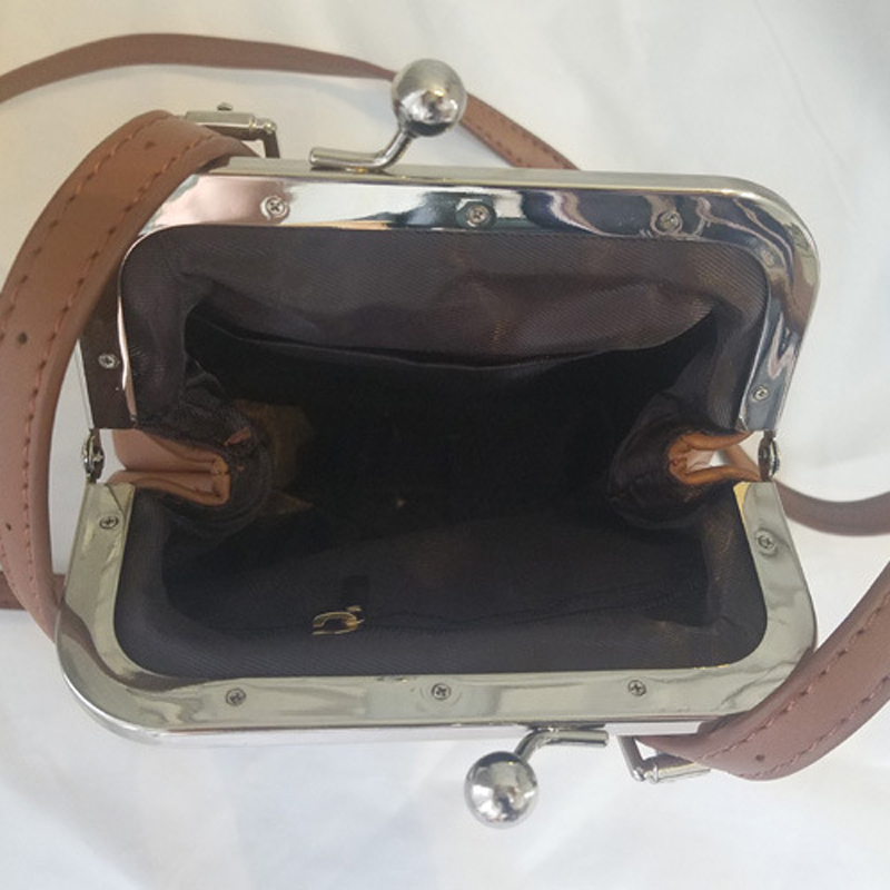 New High Quality Pu Leather Small Kiss Lock Handbag Purse Bag Women Lady Vintage Fashion Mini Shoulder Cross Body Bags In From Luggage