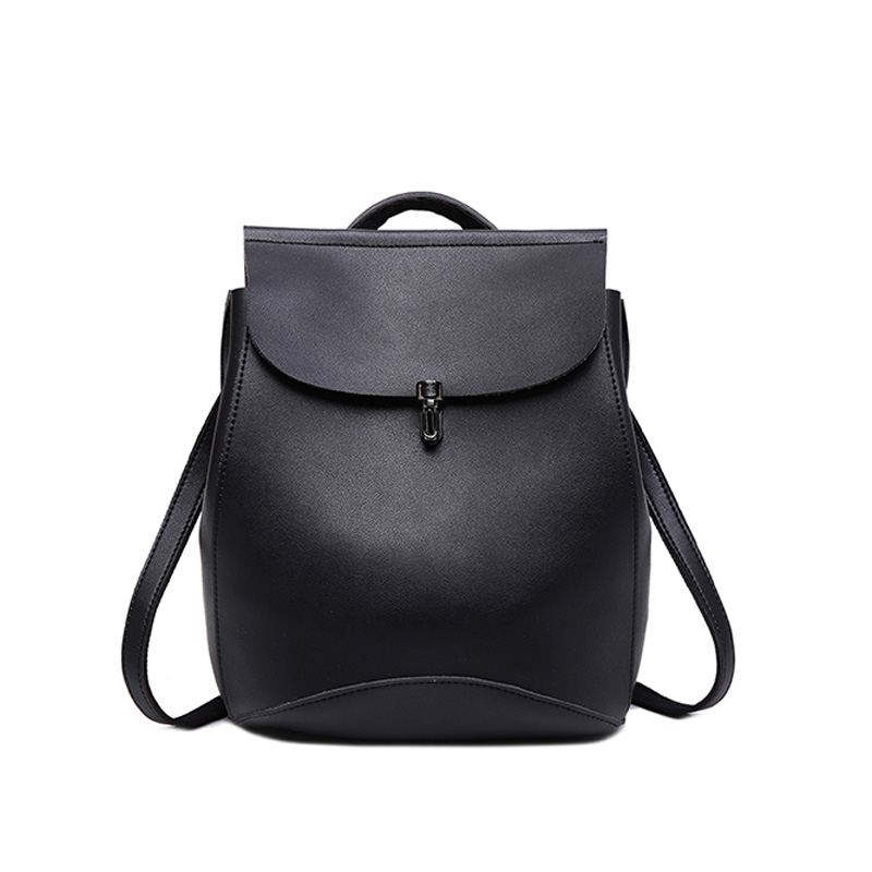 Womens Backpack Fashion Trend Package Portable Large Capacity Female Backpacks Black Girl Laptop Trabel School Bags Pu Leather