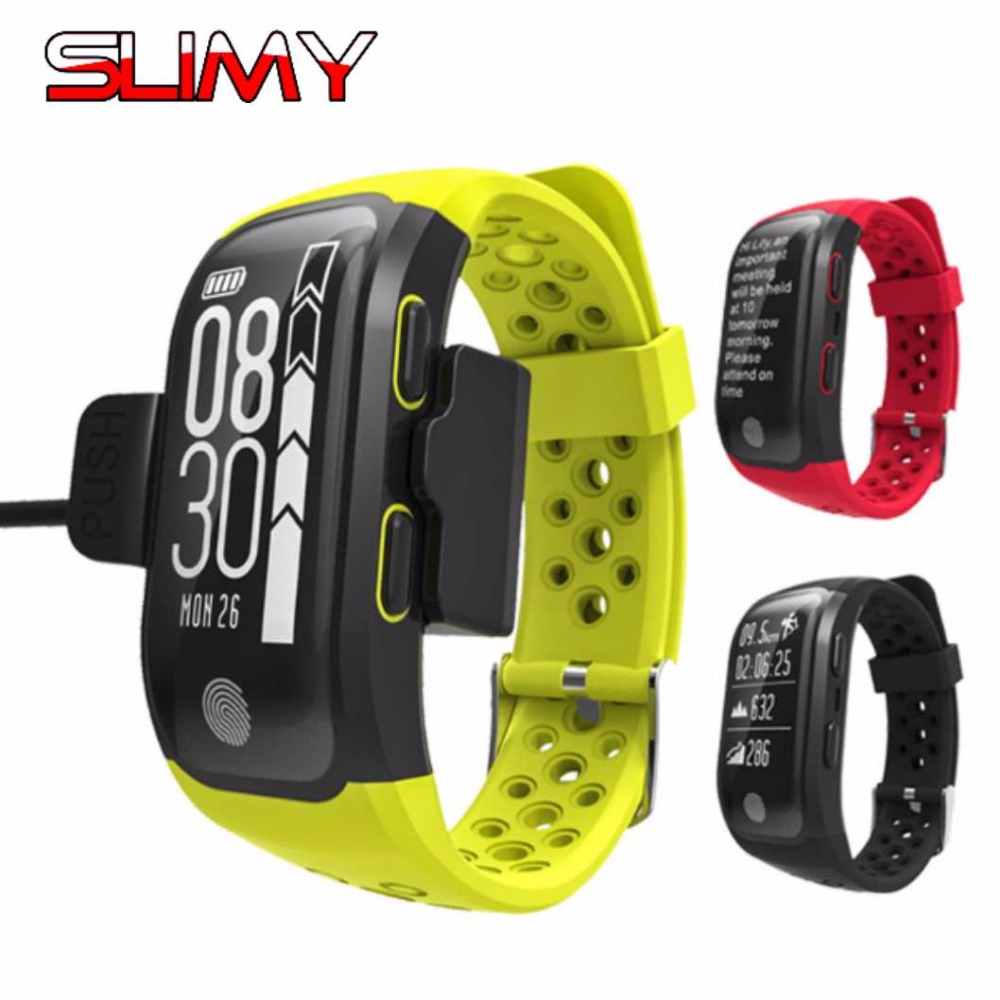 Slimy Fitness Bracelet Pulsometer Smart Band GPS Heart Rate Fitness Watch Pulse Monitor Pedometer Smart Wristband IP68 zucoor smart bracelet heart rate monitor pulse wristband dm58 ip68 fitness cardiaco band pedometer fitness blood pressure watch