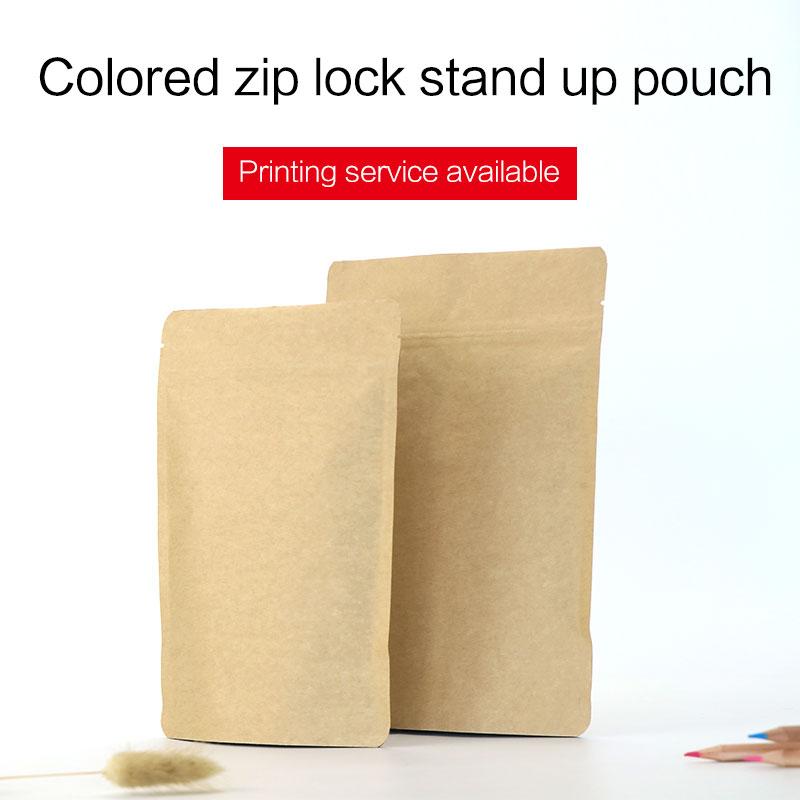 kraft papir stojalo vrečko z zadrgo aluminijasto folijo zadrgo - Organizacija doma
