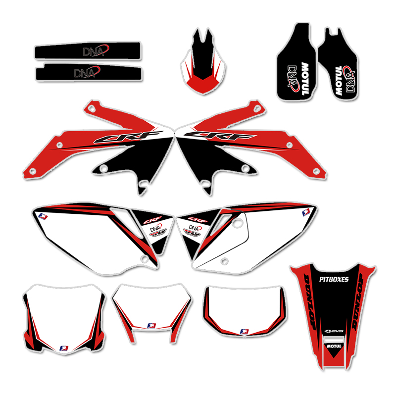 GRAPHICS & BACKGROUNDS DECALS STICKERS Kits For Honda CRF450X 4 STROKES 2004 2005 2006 2007 08 09 10 11 2012 CRF 450 X 450X