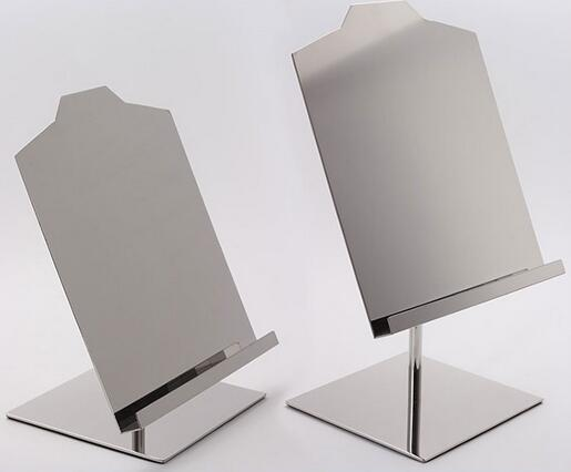 ФОТО Coat rack standing Mirror Stainless steel metal T-shirt holder display rack table stand garment store fixture