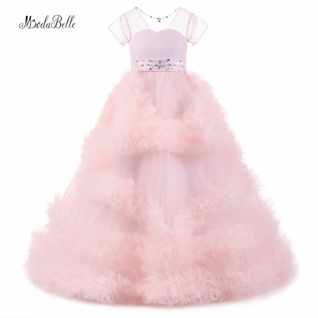 modabelle Pink Blush Flower Girl Dresses For Weddings 2017 Christmas Kids  Party Dress Infant Girls Graduation Gowns Children 74367039f8e3