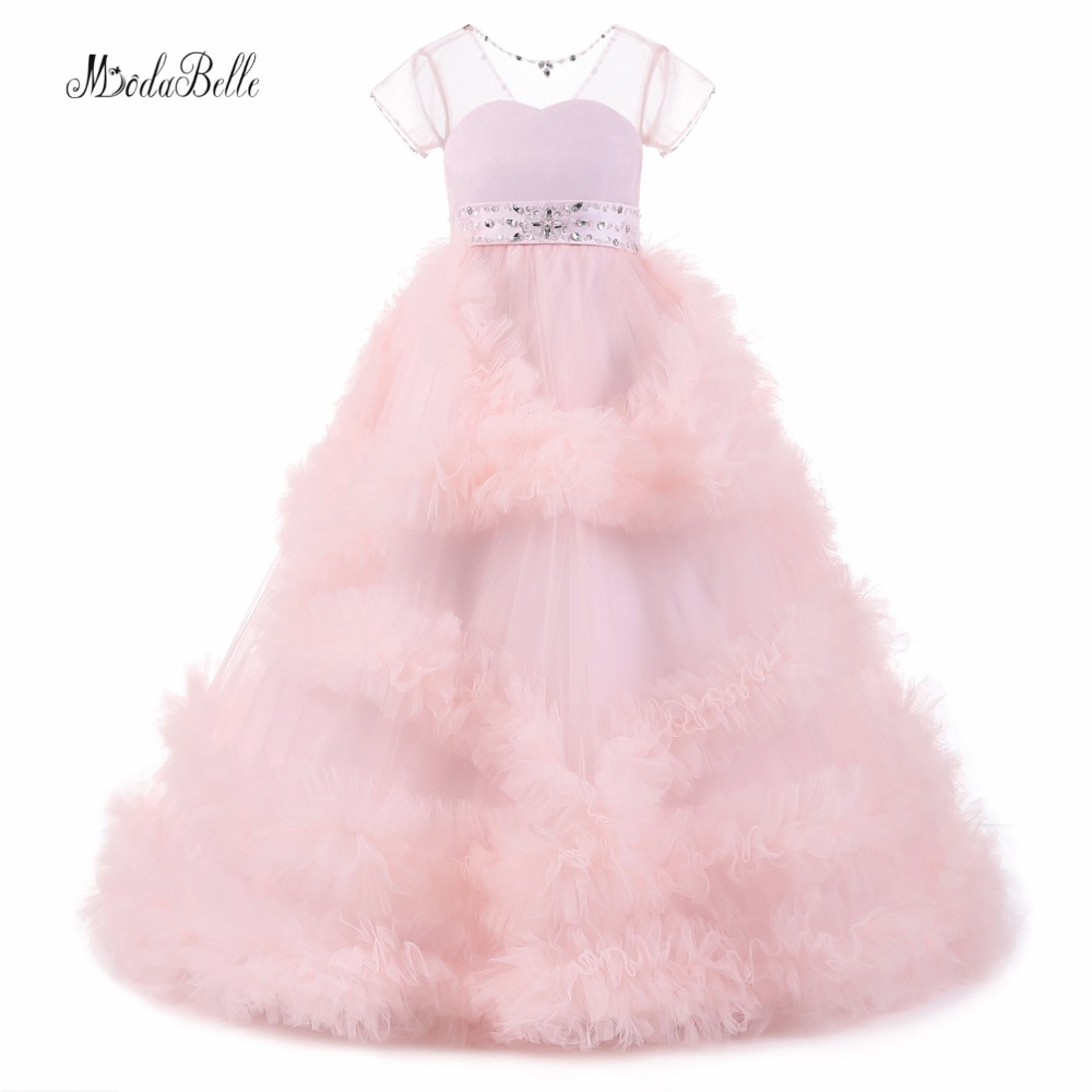 modabelle Pink Blush   Flower     Girl     Dresses   For Weddings 2017 Christmas Kids Party   Dress   Infant   Girls   Graduation Gowns Children