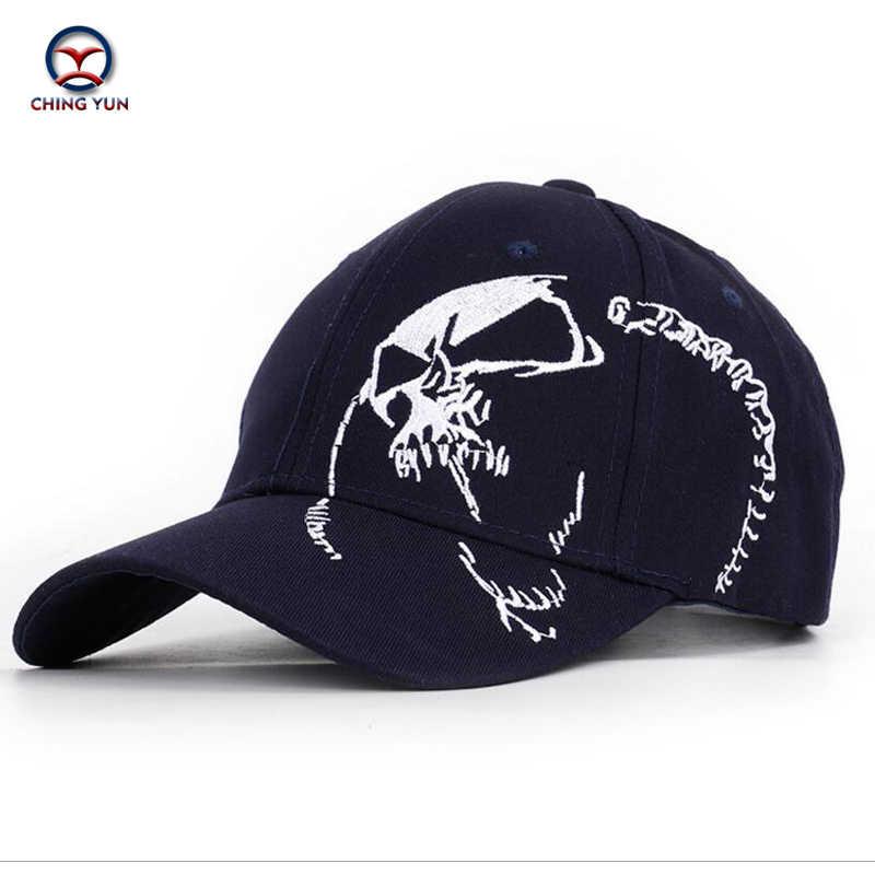 Ching yun boné de beisebol marca casquette alta qualidade bordado letras crânio padrão chapéu unisex lazer rua ao ar livre sol boné