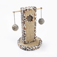 Sisal Pet Toy Creative Cat Scratching Post Cats Tree Tower Rolling Ball Sisal Mouse Scratch Board Training Toy for Cats Cat Nip