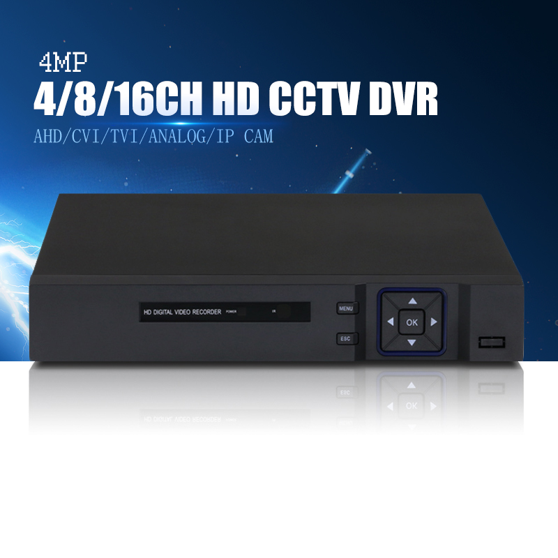 YiiSPO 4MP 5in1 4CH AHD/CVI/TVI/analog DVR Security CCTV video recorder P2P onvif 1080P 4MP NVR VGA HDMI for HD AHD/ip camera ninivision ahd 4 channel 1080p hdmi 1080p 4ch hybrid ahd dvr hvr nvr onvif for security ip camera p2p function cctv dvr recorder