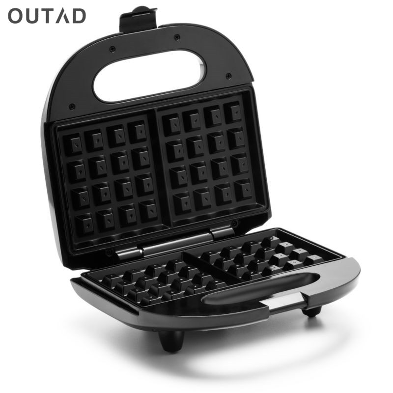 Stainless Steel Waffle Maker Electric Waffle Machine Toaster Household Non-stick Bubble Waffle Breakfast Machine Power Saved image