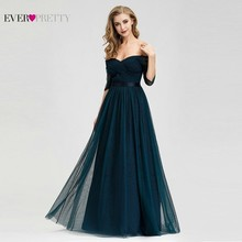 New Bridesmaid Dresses Navy Blue Ever Pretty A-Line V-Neck Off The Shoulder Women Wedding Guest Dresses Vestido Invitada Boda цены